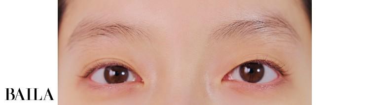 《Before》左目は重ため右目はパッチリ