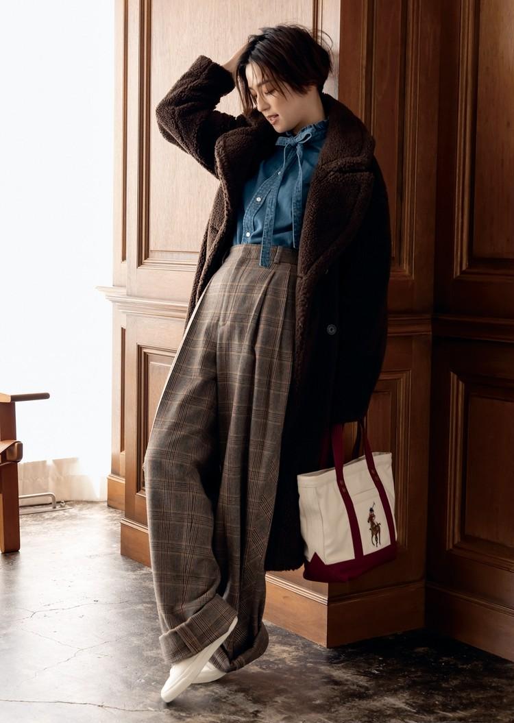 【旬カラーで洗練スタイルをかなえる】ポロ ラルフ ローレンの上品ブラウン&モダングレー_4