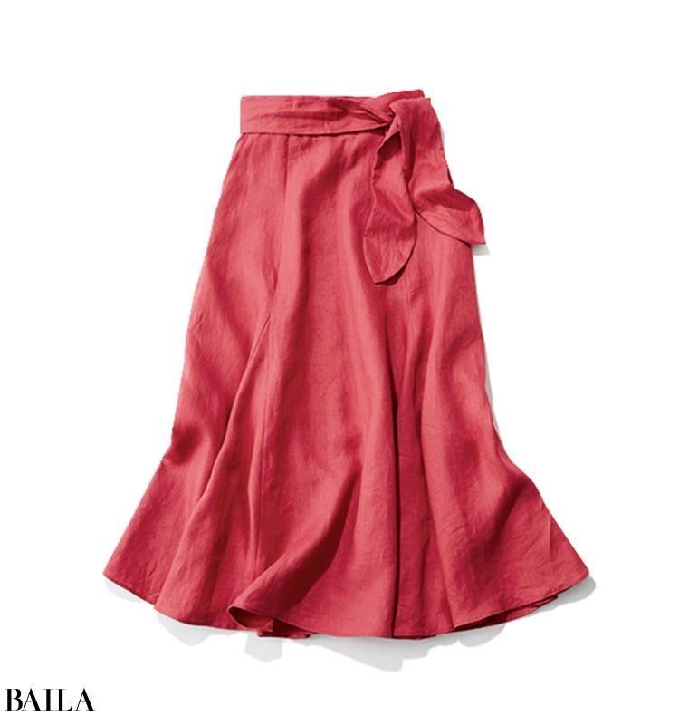 きれい色リネンスカート