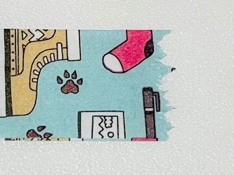 【ダイソー】マスキングテープカッターの切り口(ギザギザ)