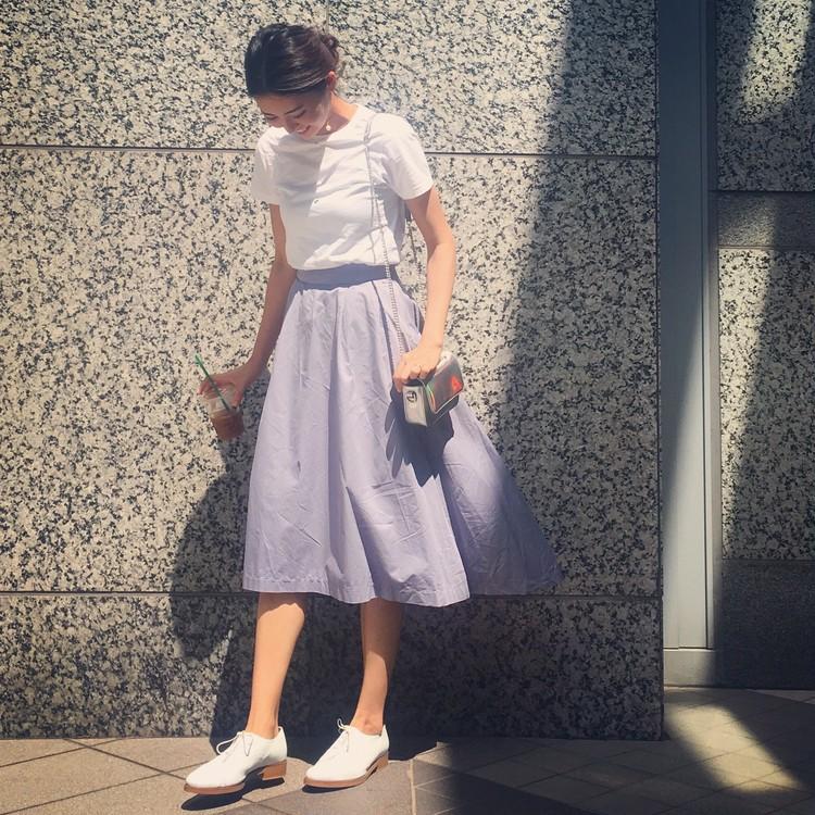 GUメンズTシャツ×ヘムラインスカート。餃子パーリー*\(^o^)/*_1