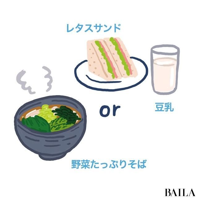 食べ過ぎた翌日の昼食(外食)