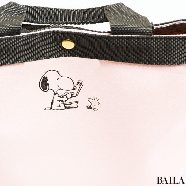 スヌーピーレザー調トートバッグのココがスゴい!【2/10(金)発売・3月号特別付録】_2_1