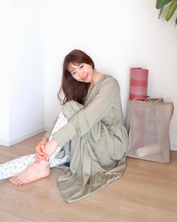 透明感あふれるダスティミントの春ワンピ♡_1