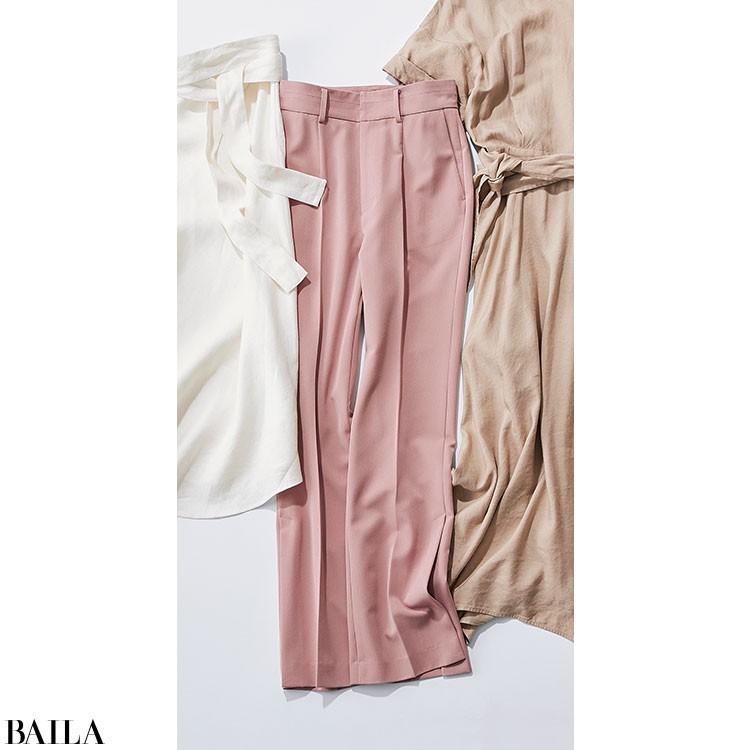 バタバタの金曜は、フェミニン配色のパンツスタイル【2020/6/5のコーデ】_2_2