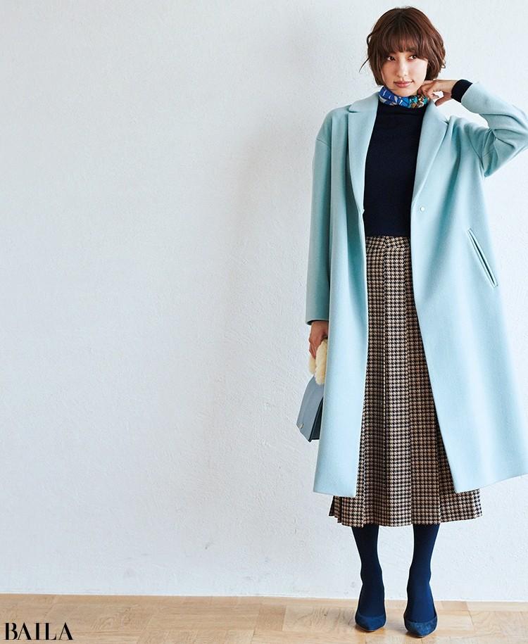 ユナイテッドアローズのきれい色ロングテーラードコート