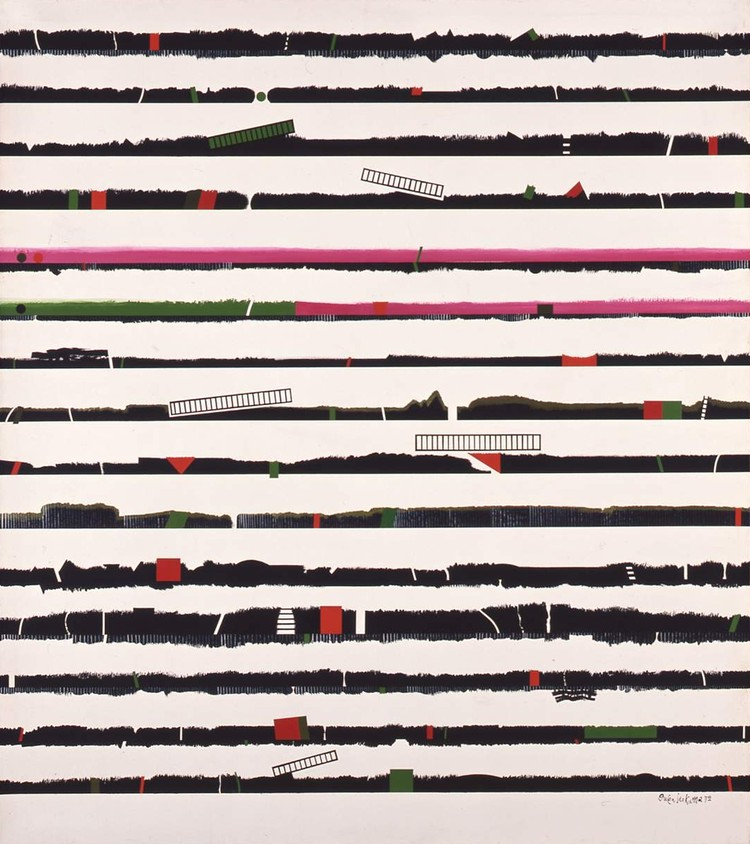 猪熊弦一郎《Landscape GT》1972年 ©公益財団法人ミモカ美術振興財団