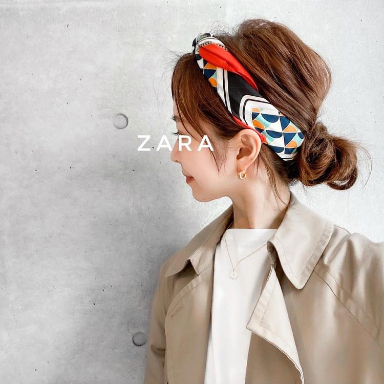 【ZARA】大人気イニシャルスカーフ♡マンネリ打破する3つの使い方_7