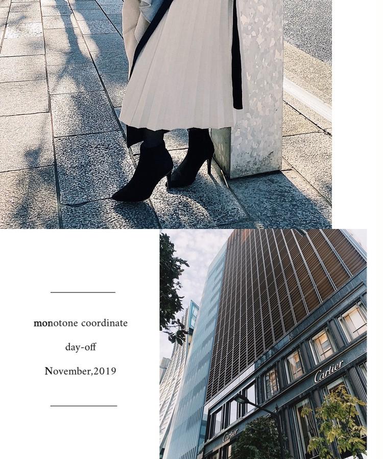 白のニットプリーツスカートが可愛い!身長154cmの冬コーデ_4