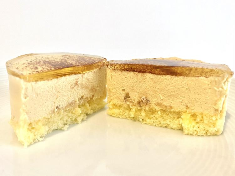Uchi Café Spécialité 麗らかキャラメルチーズケーキの断面図