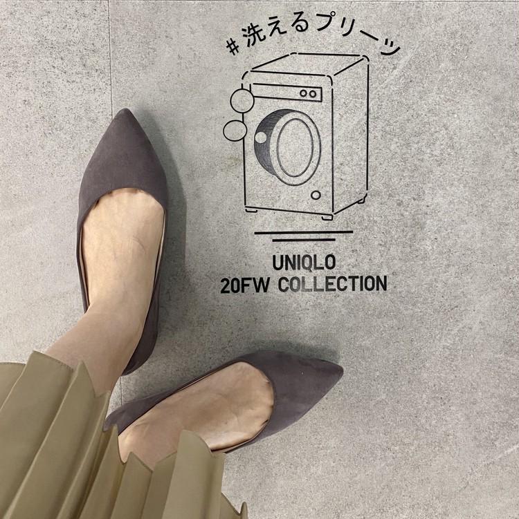 【ユニクロ(UNIQLO)のプリーツパンツ&スカート】洗えるプリーツ イメージ写真