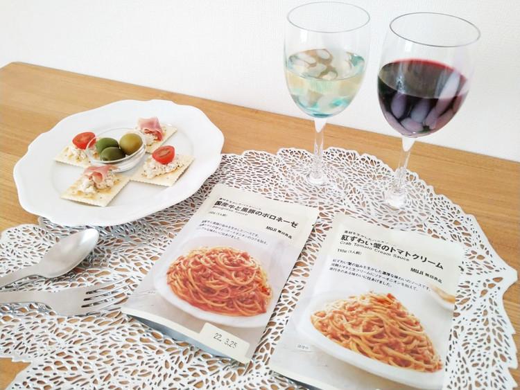 ワインと素材を生かしたパスタソース