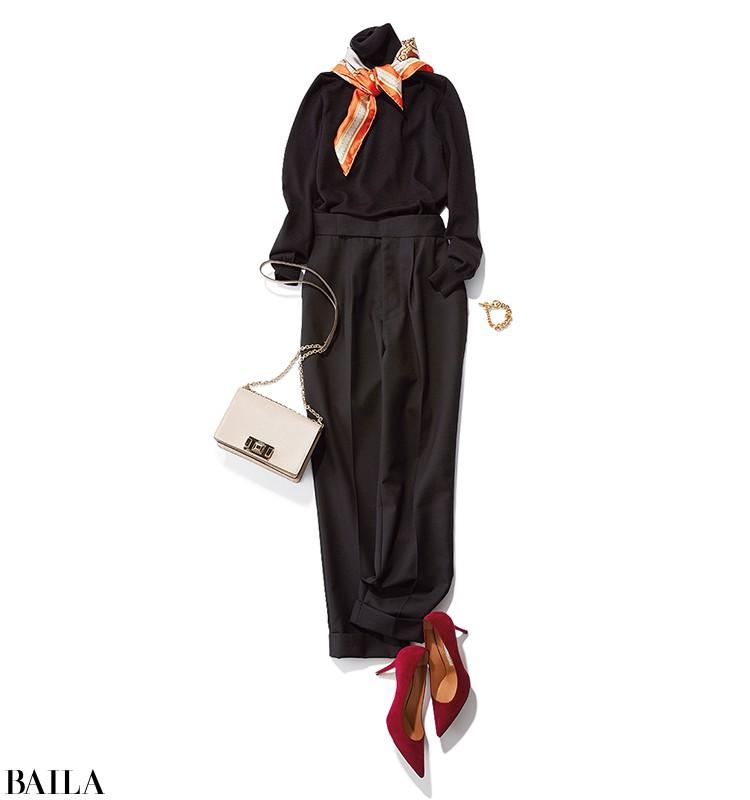 【黒タートルニット着回し】定番タートルを今っぽく着こなす方法を伝授♡_6