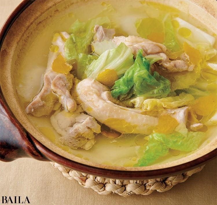 白菜の柚子塩オリーブ油鍋