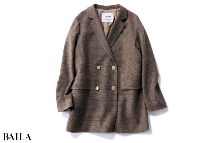 マイストラーダのウール混チェックジャケット