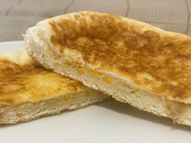 平焼きツナチーズの断面