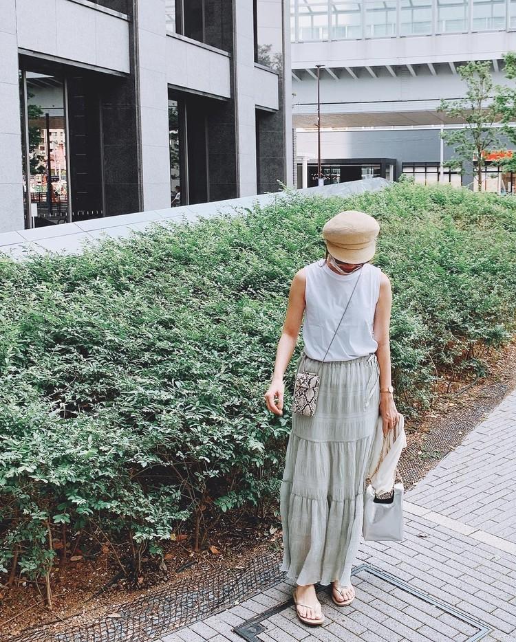 ティアードスカートが可愛い♡お散歩コーディネート_1