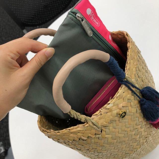 【9月号付録レスポのポーチ】夏の愛用カゴバッグの中身をスマートに整理してくれる優れモノ♡_1_4