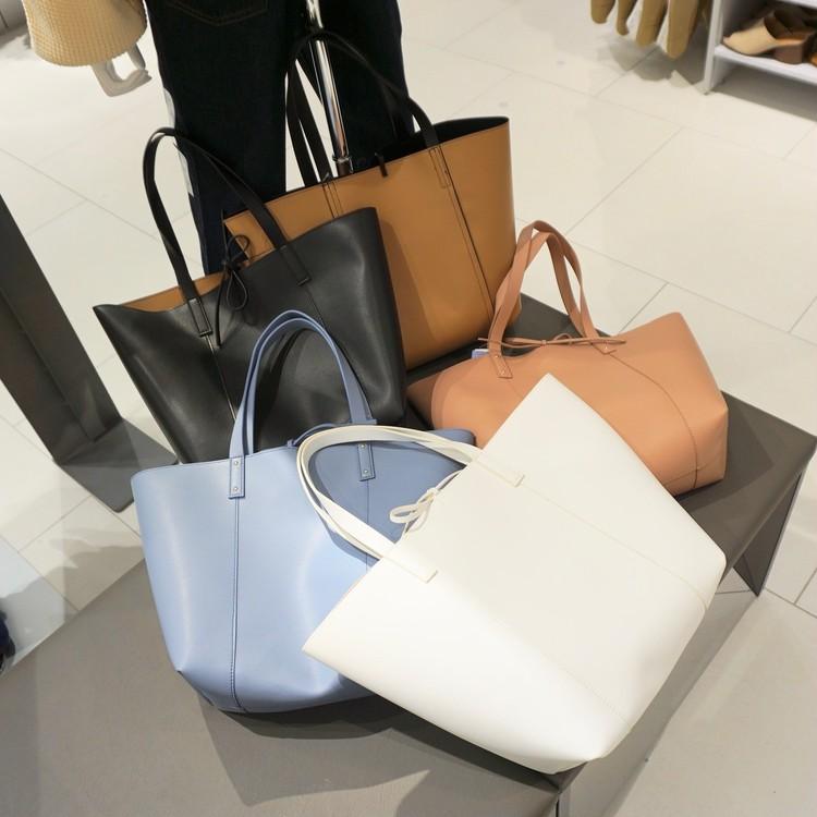 【GU(ジーユー)】渋谷店で30代女子に人気の通勤バッグ(リバーシブルトート)