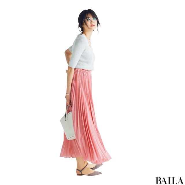 今週も乗り切るために♡ 着やせ&美女感UPの【きれい色スカート】スタイル5_2_2