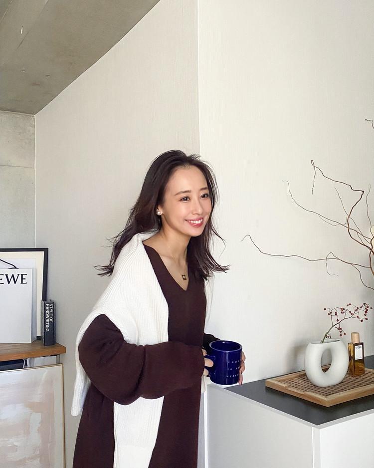 【冬のおうちコーデ】ブラウンカラーでゆったりSサイズコーデ