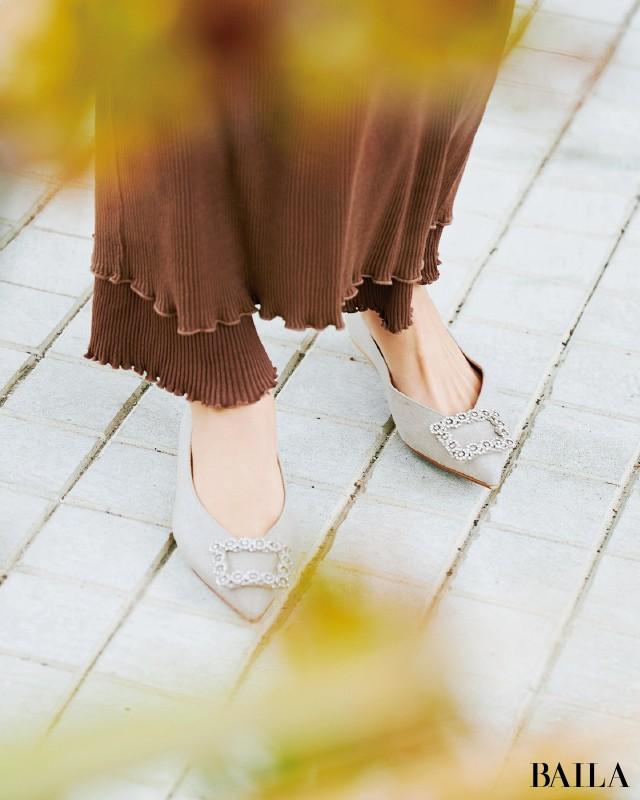 「ワンピース」×「フラット靴」の最強コンビで大人の可愛げを楽しんで♪_10