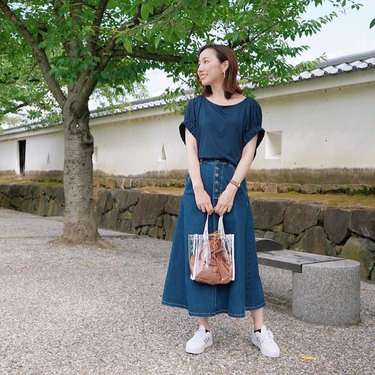 【プチプラ】8月号付録バッグとGU優秀アイテムで夏コーデ_6