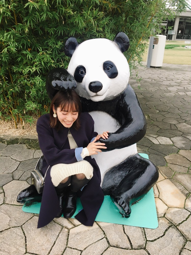 パンダの像