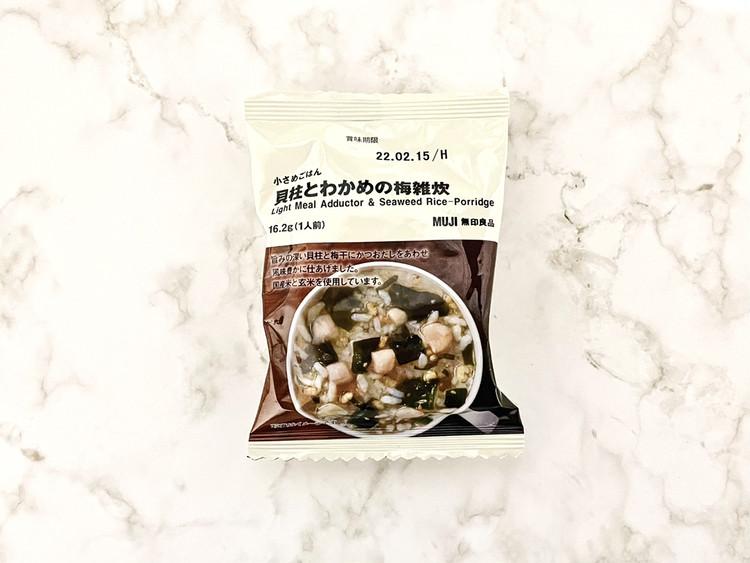 小さめごはん 貝柱とわかめの梅雑炊(パッケージ)