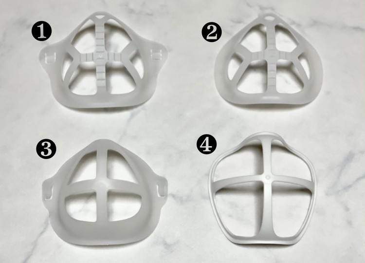 【セリアのマスク便利グッズ1】インナーフレーム4種の中身