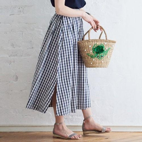 バタつくは月曜は、手軽なニット×スカートにカーデを巻いて変化をつけて!【2019/5/27のコーデ】_3