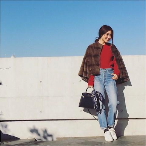 【#OOTD】人気ライター東原さんの冬の白スニーカーコーデはやっぱりしゃれてる!_1