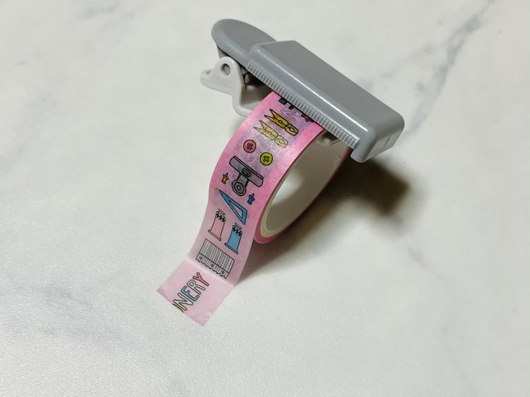 【ダイソー】マスキングテープカッターの使用例(まっすぐ)