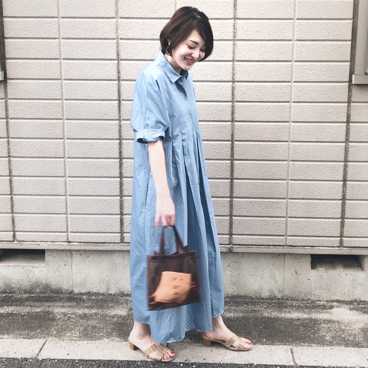 【きれい色ワンピ】夏だからこそ着たい!爽やかブルーのZARAシャツワンピ_3