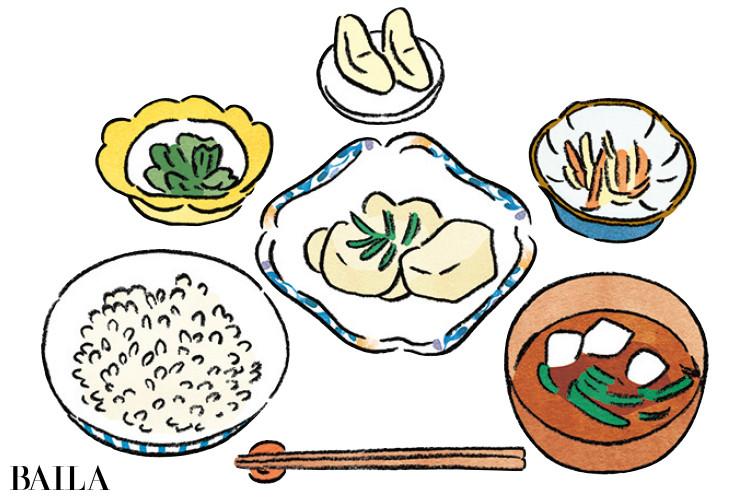便秘解消のためにいろいろ食べられる和定食を選ぶ
