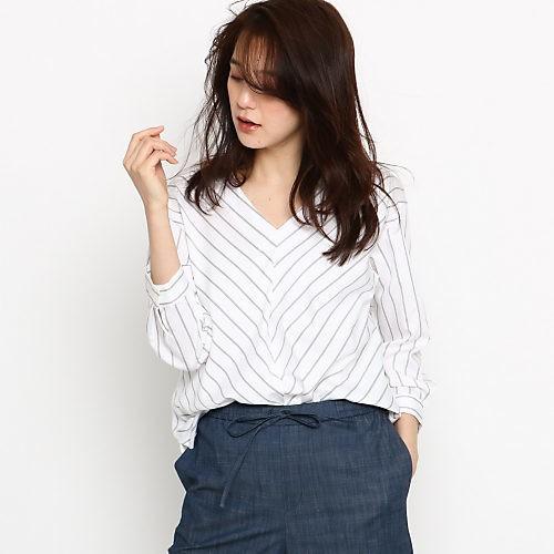 涼しげで大人っぽい♡ ストライプ&ホワイトの女っぽパンツスタイル♡【2018/6/2のコーデ】_4