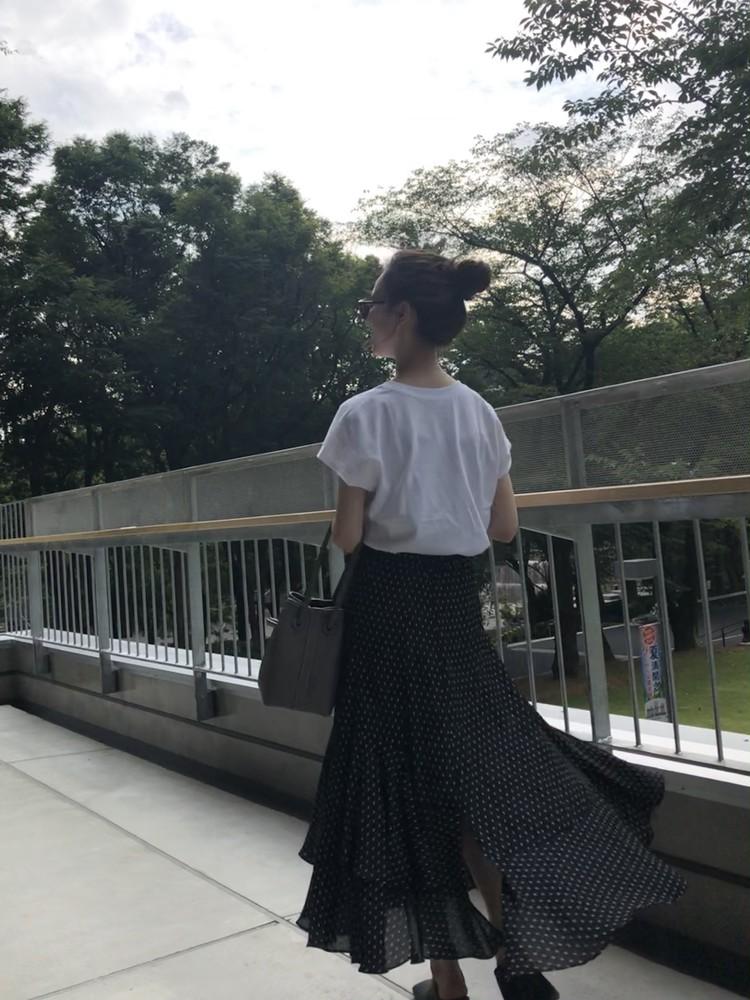 UNIQLO Tシャツで大人フェミニンスタイル♡_8