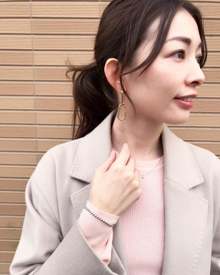 【銘品】theory 桜ピンクニット_2
