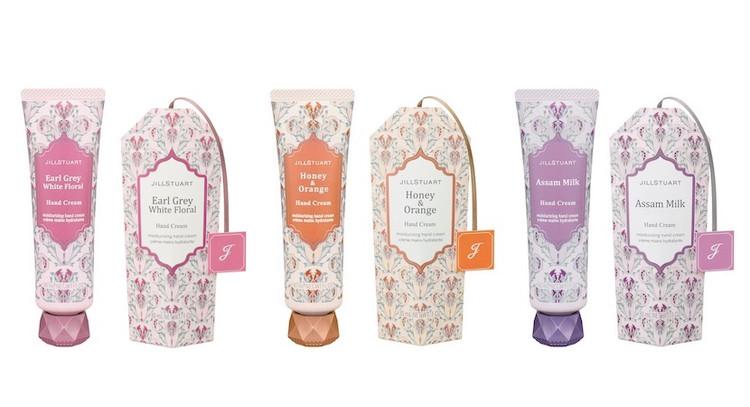 (左から)ハンドクリーム アールグレイ ホワイトフローラル、ハンドクリーム ハニー & オレンジ、ハンドクリーム アッサム ミルク 各30g 各¥1,500(限定品)/ジルスチュアート ビューティ