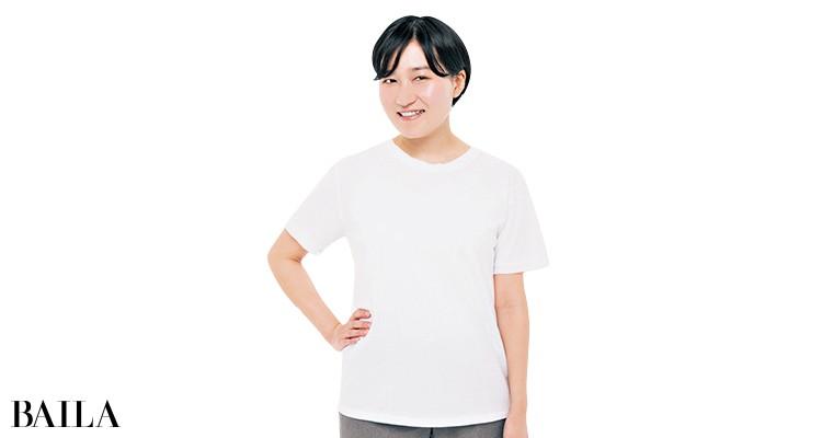 ランバン オン ブルーのTシャツを編集Mが試着