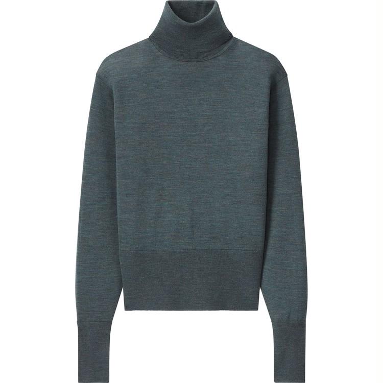 エクストラファインメリノタートルネックセーター(長袖)¥2,990