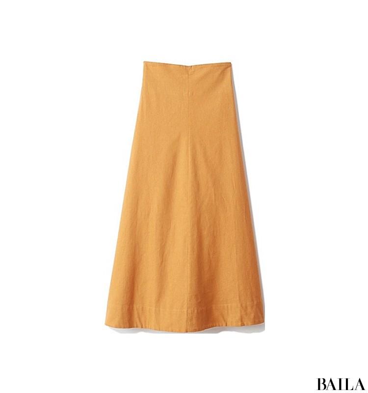 両親に彼を会わせる日は、旬カラーのきれいめスカートスタイルをちょっぴりカジュアルに!【2019/9/8のコーデ】_2_2