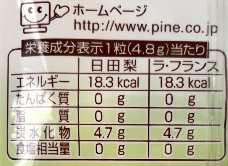 ファミリーマート限定・パインアメの【ナシアメ】日田梨味とラ・フランス味 各カロリー