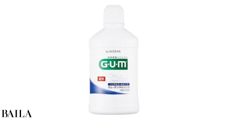 ガム・デンタルリンス ノンアルコールタイプ(医薬部外品)500㎖ ¥800/サンスター