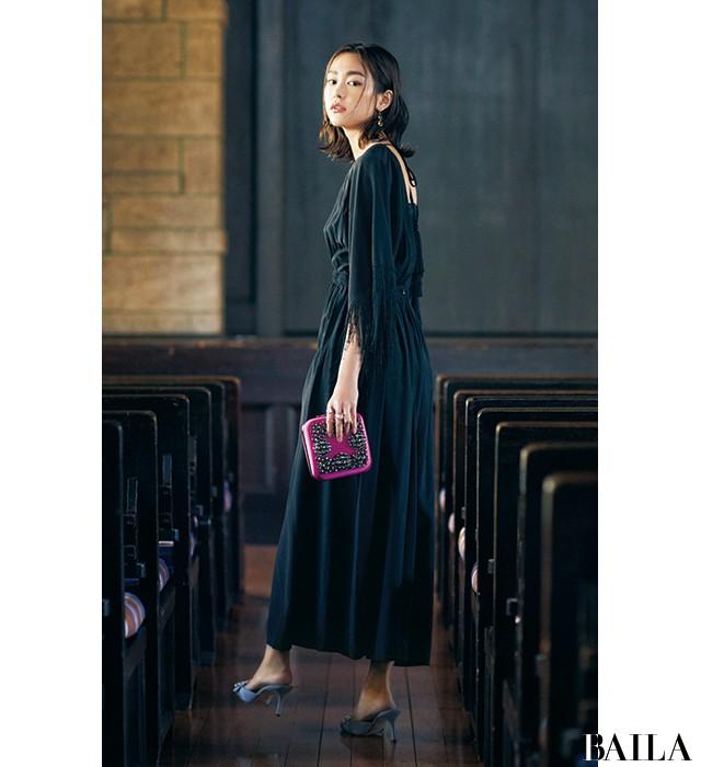 【結婚式やパーティの参考に】桐谷美玲が魅せるメリハリ上手な「ドレスアップ」_4