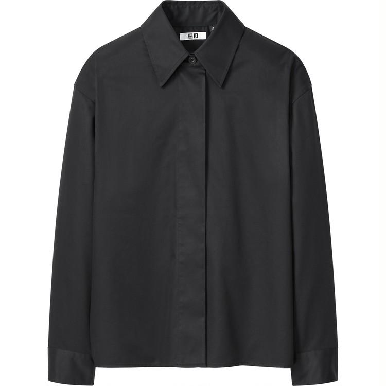 コットンサテンシャツジャケット(長袖)¥2,990