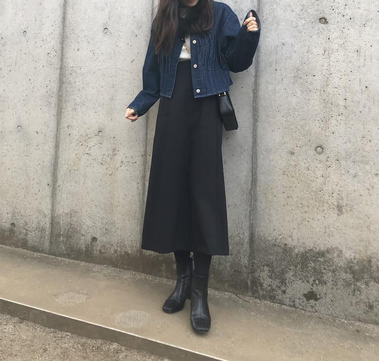 【GUアイテム】コスパ◎ 高見えロングスカート ¥2,490_3