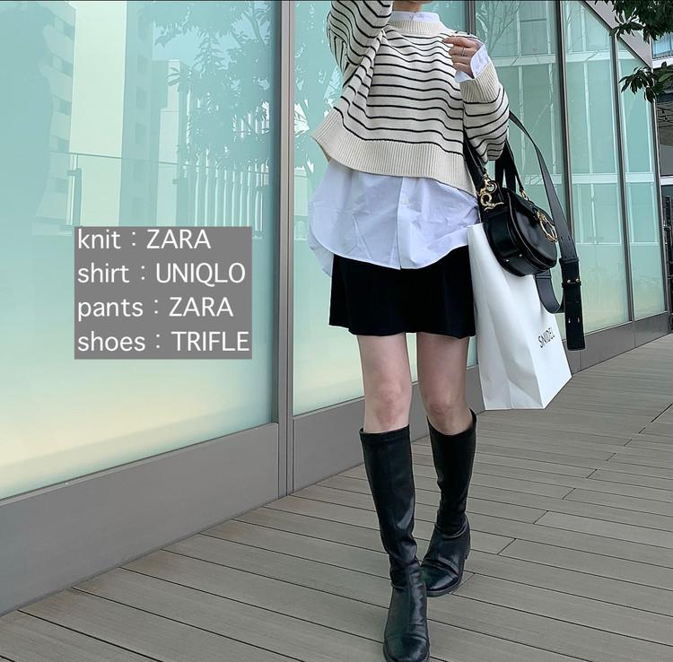 【ZARA着回し】頑張らずにオシャレに見える「ボーダー」♡_4