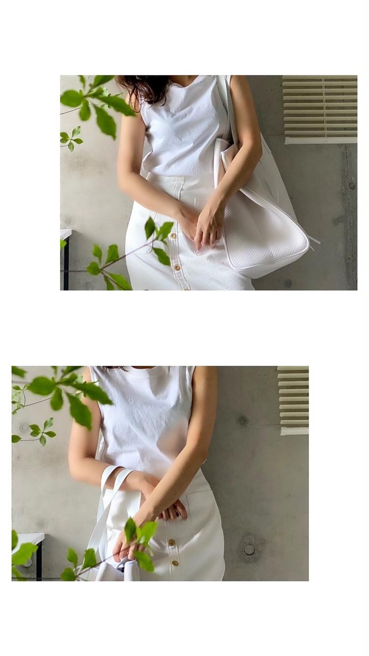洗える素材のホワイトプチプラコーデ
