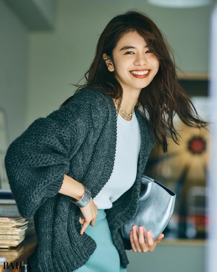 ローリーズファームのケーブル編みコート